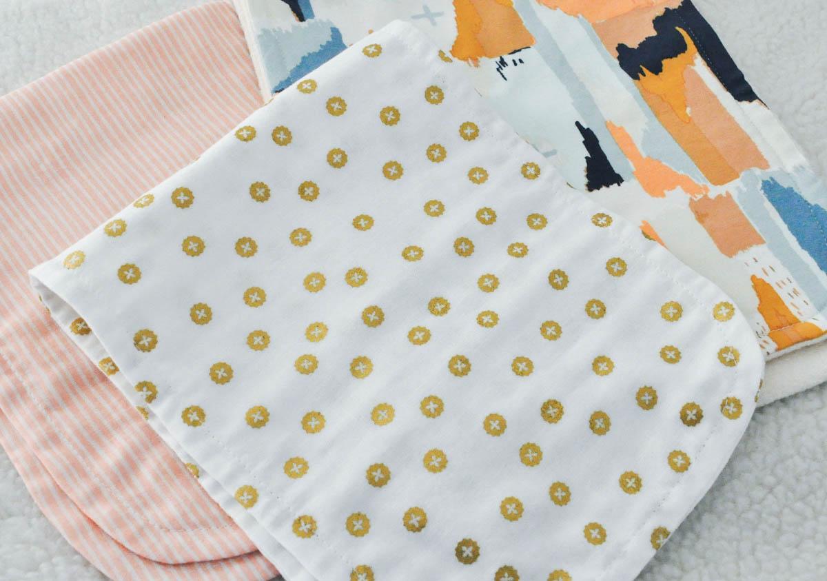 Burp Cloths for Baby Girl telafante